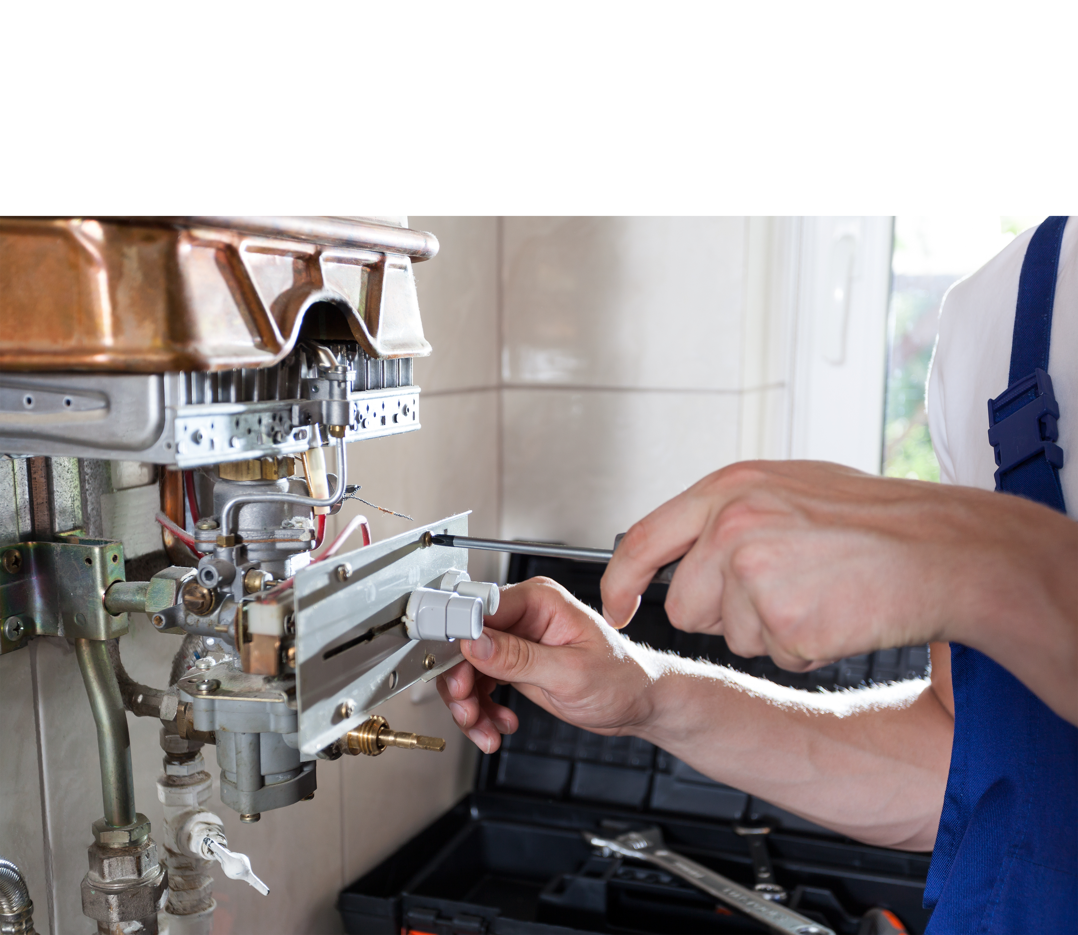 Boiler repair being carried out by Bristol plumber