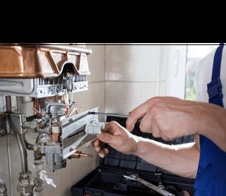 Boiler repair being carried out by Bristol plumber